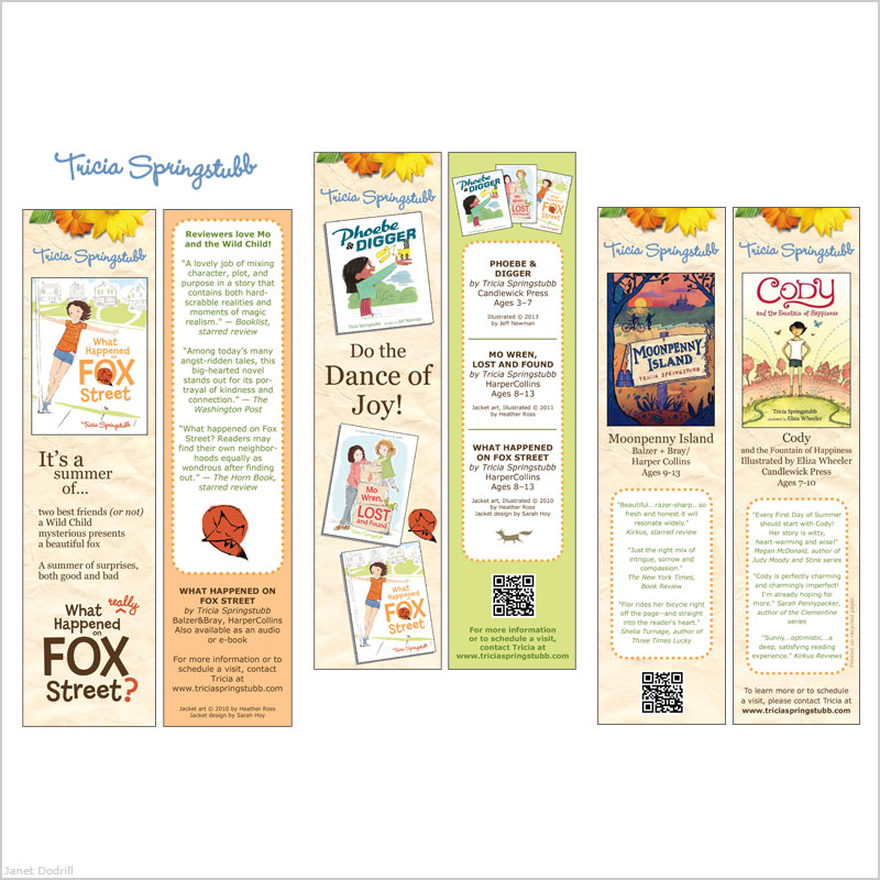 Janet Dodrill – Bookmarks for Author Tricia Springstubb